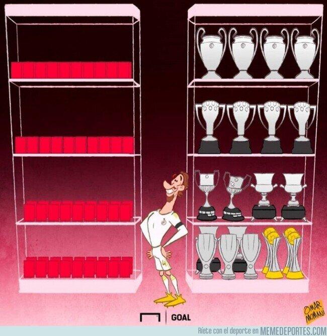 1099429 - Ramos ya acumula más expulsiones que títulos con el Madrid, por @goalglobal