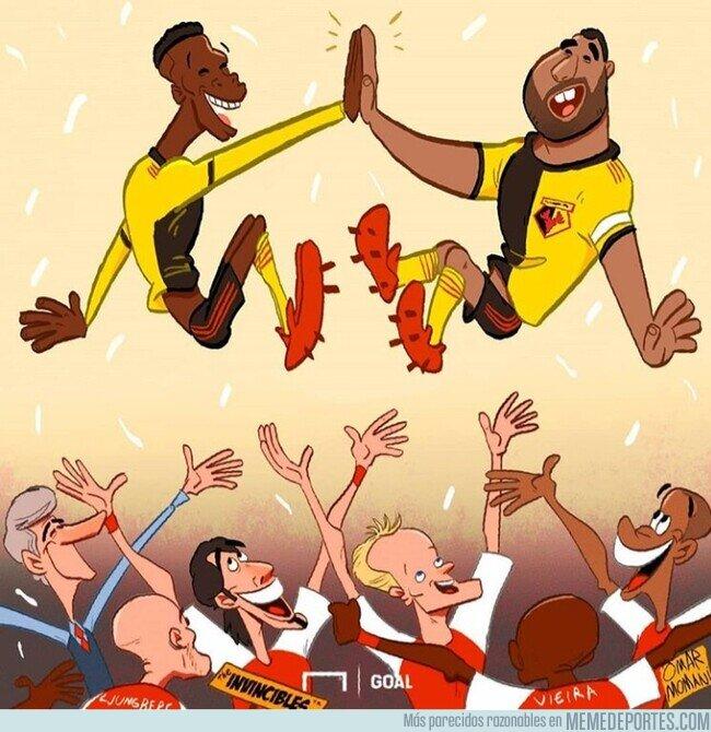 1099573 - Los invencibles del Arsenal deben estar agradecidos a Sarr y Deeney, por @goalglobal