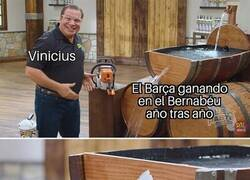 Enlace a Vinicius acaba con la racha azulgrana