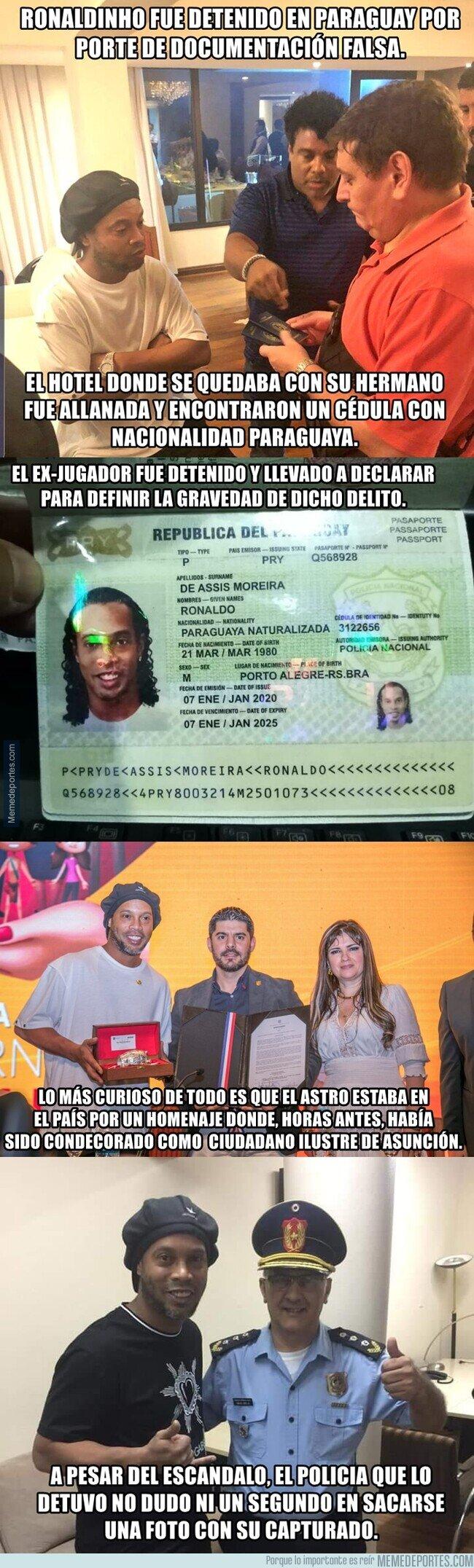 1100053 - El tremendo escándalo de Ronaldinho en Paraguay por un documento falso para entrar al país