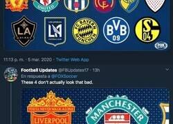 Enlace a La cadena FOX intercambia los colores de los escudos con sus máximos rivales y el BVB responde de forma contundente