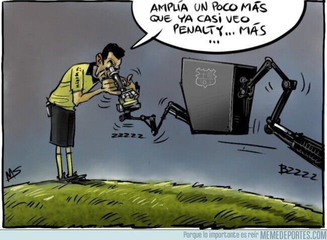 1100215 - El extraño protocolo del VAR en el Camp Nou, por @yesnocse
