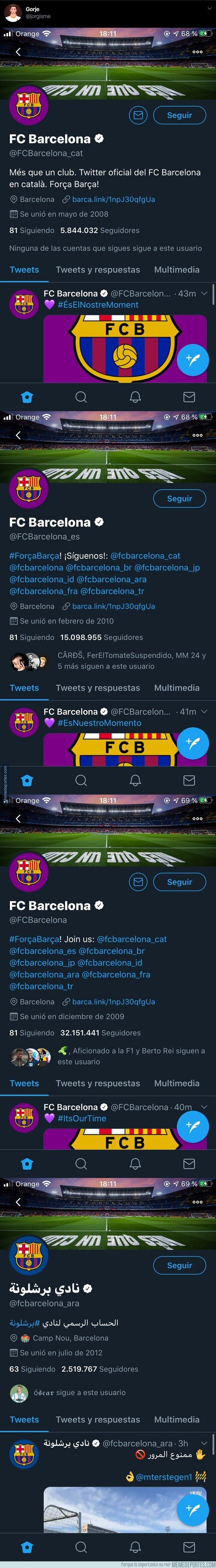 1100473 - El polémico detalle de las cuentas del Barça por el 'Día de la mujer' en su versión árabe que está creando muchas críticas