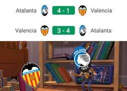 Enlace a El Valencia poco pudo hacer ante la pegada del Atalanta