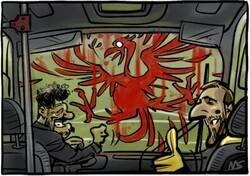 Enlace a El autobús rojiblanco atropelló al Liverpool, por @yesnocse
