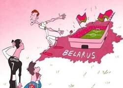Enlace a Hleb invita a Messi y CR7 a jugar en la liga de Bielorrusia, que sigue activa, por @goalglobal