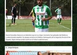 Enlace a Cinco conocidos futbolistas que se encuentran perdidos en la tercera división de un país europeo