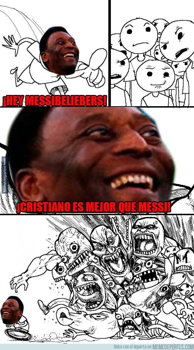 1101704 - Pelé sabe como hacer enfadar a los fanáticos de Messi