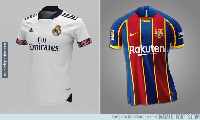 1101924 - Las camisetas del Barça y Madrid para el próximo año.