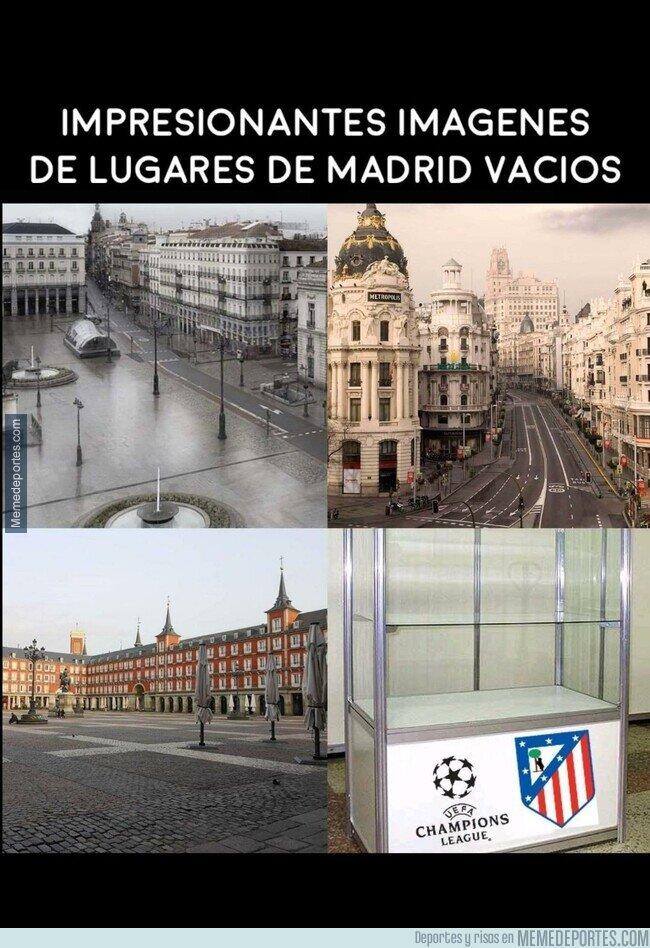 1102106 - Madrid vacía igual que las vitrinas del Atleti