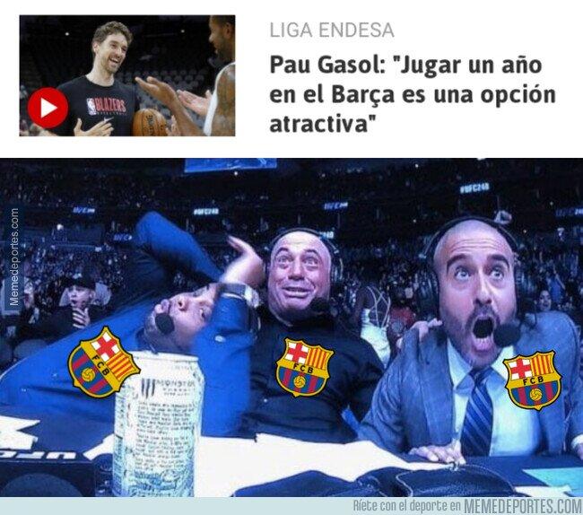 1102181 - El guiño de Pau Gasol al Barça