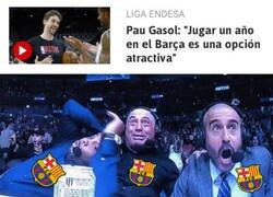 Enlace a El guiño de Pau Gasol al Barça