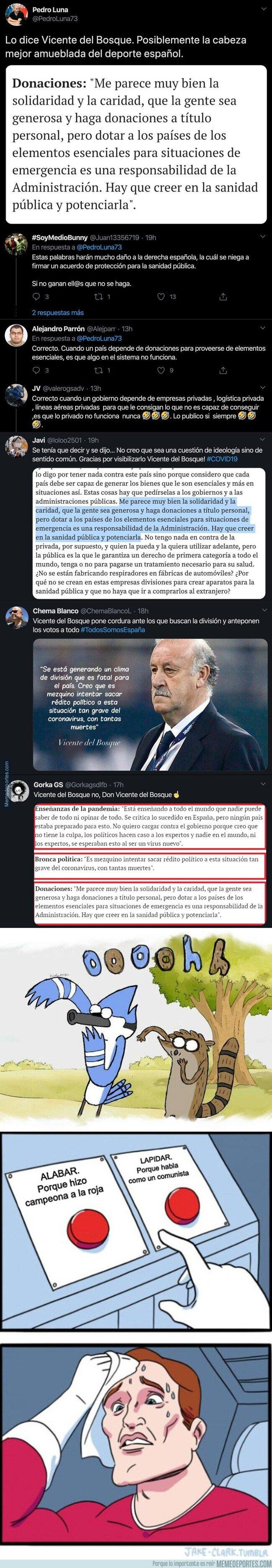 1102232 - Vicente del Bosque hace rabiar a todos los votantes de derechas al opinar sobre las donaciones como las de Amancio Ortega