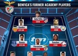 Enlace a El increíble 11 que conforman los canteranos del Benfica, por Transfermarkt