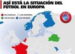 Enlace a La situación de todas las ligas en Europa de cara a la crisis.