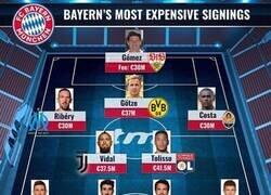 Enlace a El 11 de los jugadores más caros que ha fichado el Bayern, por Transfermarkt