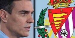 Enlace a El Real Valladolid la lía por completo al tuitear este mensaje contra Pedro Sánchez en mitad de la pandemia del coronavirus
