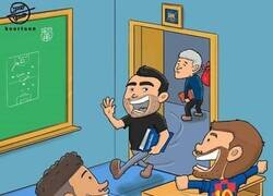 Enlace a Xavi sueña con entrenar a Messi y a Neymar en el Barça, por @koortoon