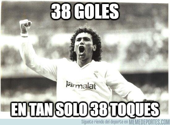 1103874 - 30 años del récord de Hugo Sánchez: 38 goles con 38 toques