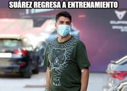 Enlace a Suárez no perdió el tiempo en la cuarentena