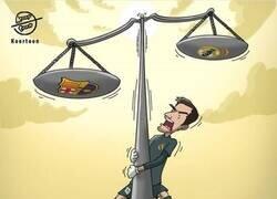 Enlace a El extraño equilibrio de balanza de Courtois, por @koortoon