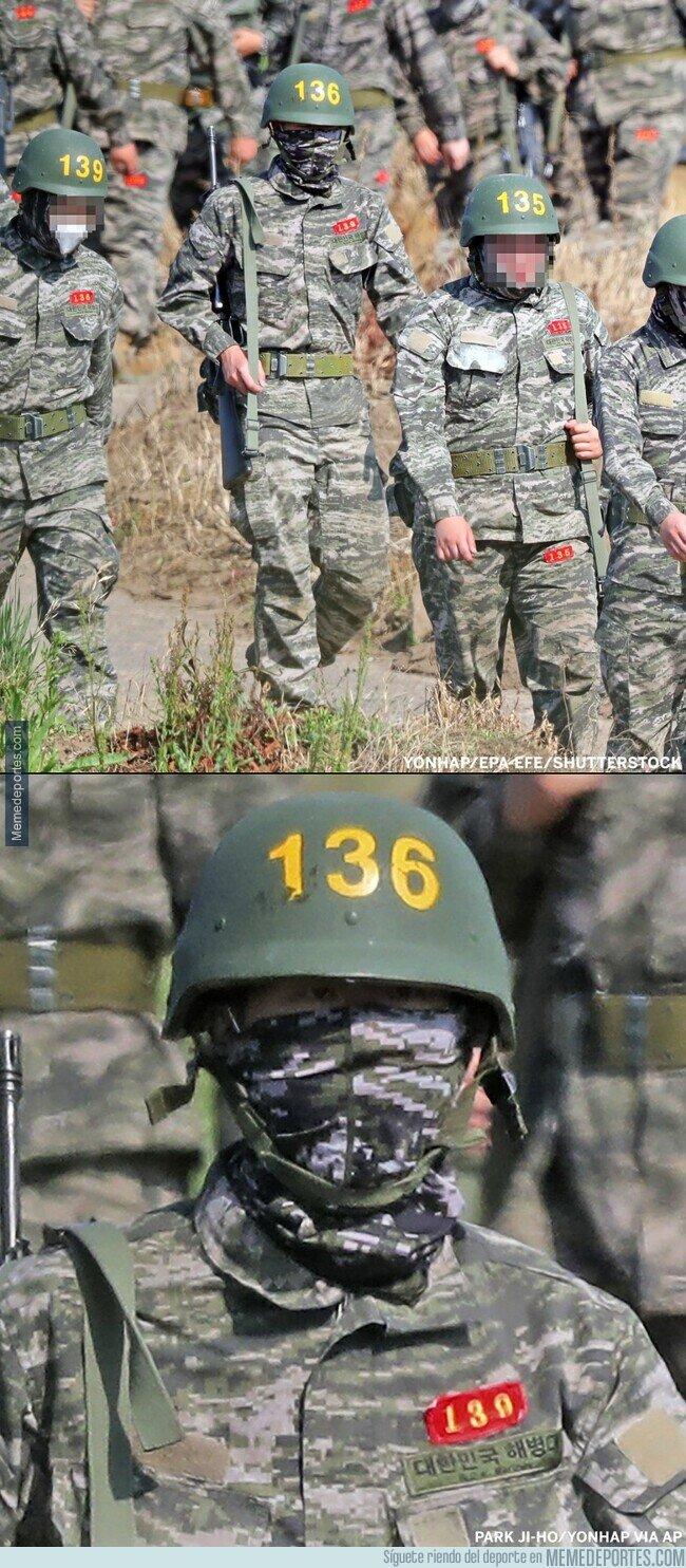 1104030 - La primera imagen de Son Heung Min cumpliendo su servicio militar. Infante número 136