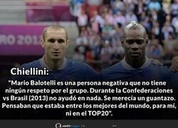 Enlace a Chiellini y Balotelli se dan fuerte en sus últimas declaraciones.