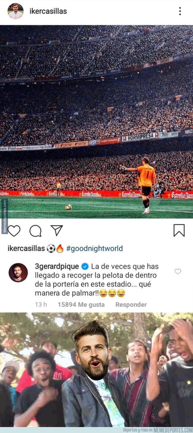 1104445 - La dura respuesta de Piqué a una foto de Casillas en el Camp Nou