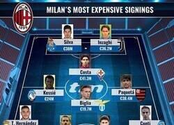 Enlace a El 11 de los jugadores más caros que ha fichado el Milan, por Transfermarkt