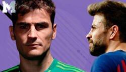 Enlace a Piqué dando ideas: Así le fue a Casillas en el Camp Nou
