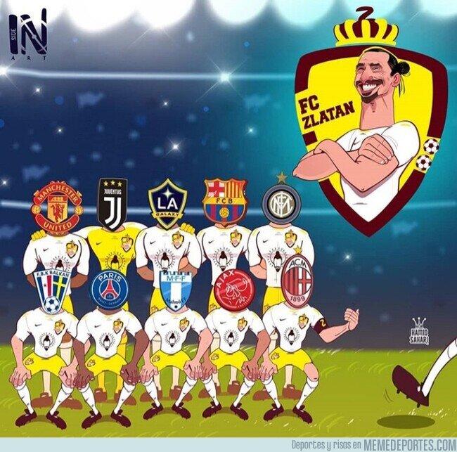 1104727 - Zlatan no ha pasado por muchos equipos, muchos equipos han pasado por Zlatan, por @inside__arts