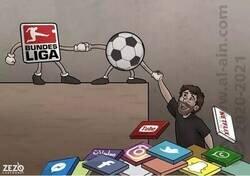 Enlace a La Bundesliga nos ha salvado, por @zezocartoons