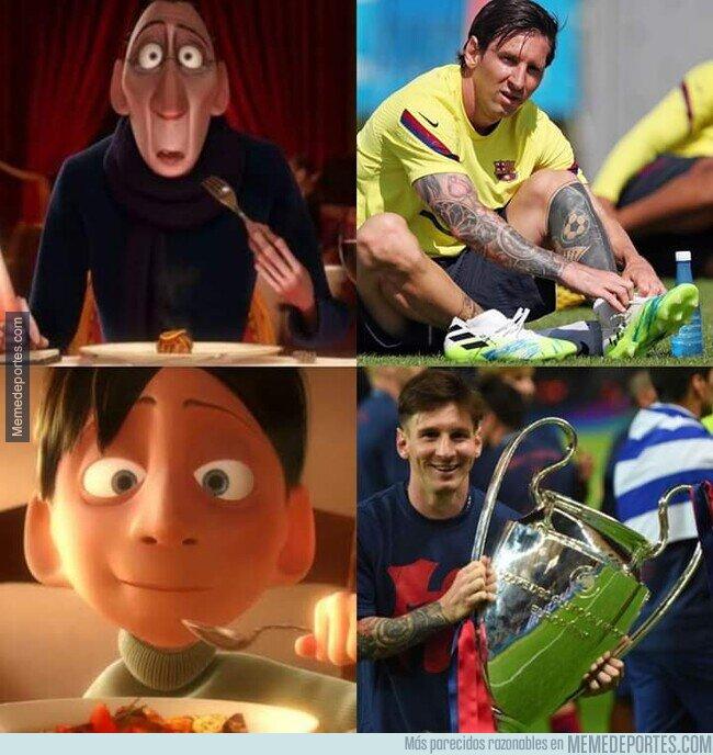 1105284 - Los culés viendo a Messi sin barba
