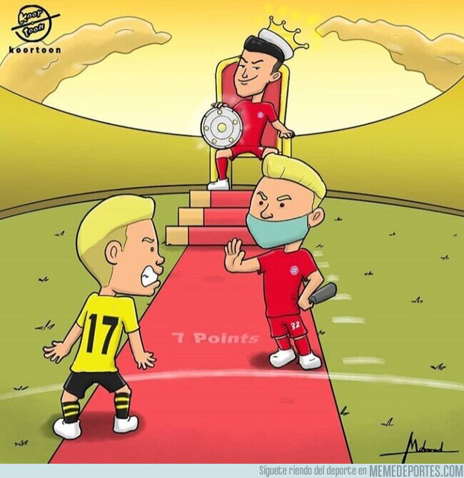 1105455 - Kimmich sentencia la liga para el Bayern, por @koortoon