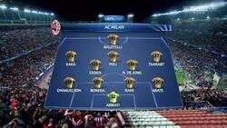Enlace a Para llorar juntos. La alineación del último partido de Champions del Milan, hace 6 años.