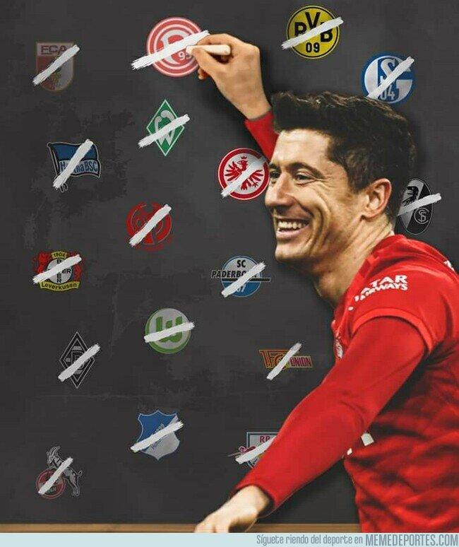 1105547 - Lewa ya le ha marcado a todos los equipos de la Bundesliga