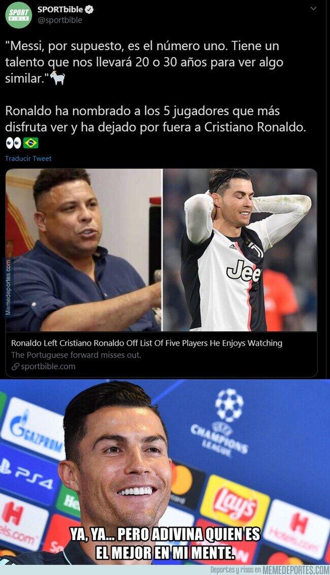 1105577 - El gordo Ronaldo elige a Messi como el mejor. ¿Cuantos van ya?