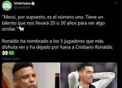Enlace a El gordo Ronaldo elige a Messi como el mejor. ¿Cuantos van ya?