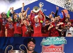 Enlace a 1 año ya del Liverpool nuevamente rey de Europa