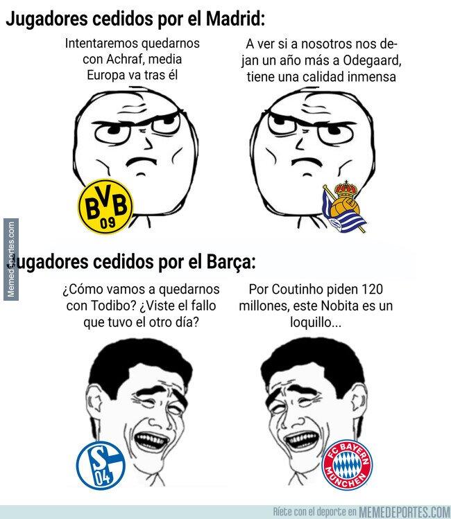 1105677 - La diferencia entre los cedidos por Madrid y Barça