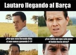 Enlace a Lautaro llegando al Barça
