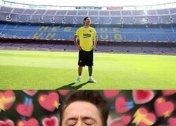 Enlace a Los culés viendo a Messi de nuevo en el Camp Nou