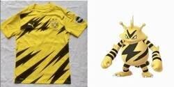 Enlace a La próxima camiseta del Dortmund se parece a Electabuzz.