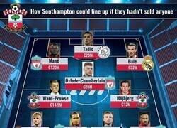 Enlace a El 11 del Southampton si no hubiera vendido a sus estrellas, por Transfermarkt