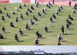 Enlace a Genios y figuras: En Corea del Sur usan estadios para los exámenes en las escuelas y respetar el distanciamiento