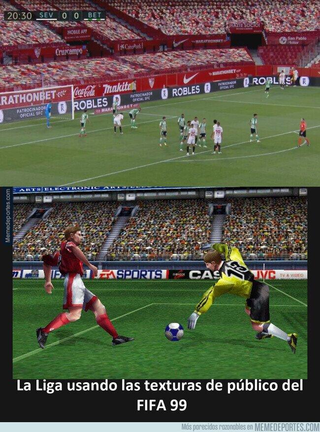 1106301 - La Liga usando el público del FIFA 99