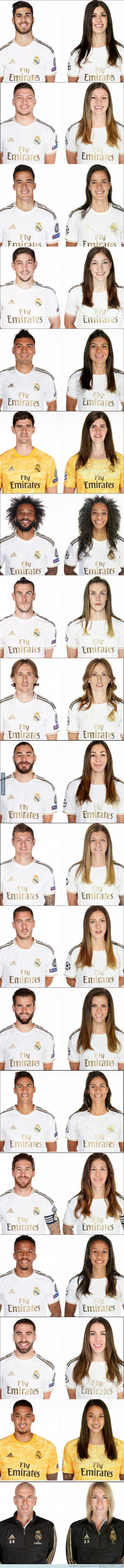 1106552 - Así sería la versión femenina de todos los jugadores del Real Madrid con la que todo el mundo se está riendo