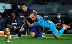 Enlace a No es la primera vez que paran a Messi de forma brusca