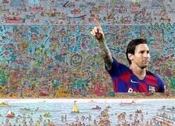 Enlace a No encuentras a Wally? Messi te ayuda...
