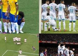 Enlace a El pavor de un tiro libre de Messi
